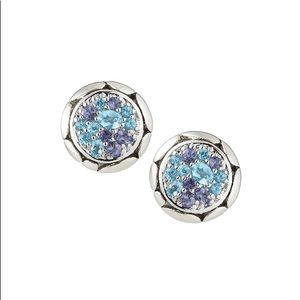 John Hardy kali pure lava fire round stud earrings